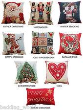 Navidad Cushion Covers Decorativo Tapiz dispersión tiro Feliz Navidad festiva