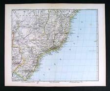 1882 Petermann Map  South America Brazil Rio de Janeiro
