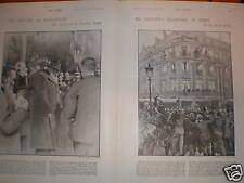 South Africa President Paul Kruger in France 1900 print