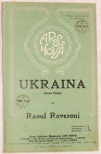 1930 RAOUL ROVERONI UKRAINA MUSICA SPARTITI ORCHESTRA