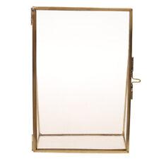 Antique Gold Black Metal Glass Photo Frame Home Office Decor Freestanding