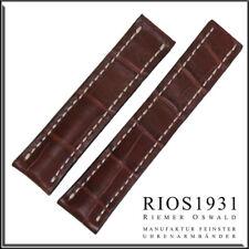 22x18 mm RIOS1931 for Panatime - Mahogany Aero- Alligator Watch Band For Breitli