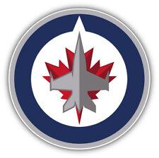 Winnipeg Jets NHL Hockey Round  Car Bumper Sticker Decal - 9'', 12'' or 14''