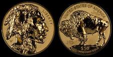 2013 $50 AMERICA BUFFALO ONE OUNCE GOLD REVERSE PROOF COIN 1 OZ. W/COA @ BOX