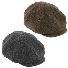 3ff52096 HERRINGBONE FLAT CAP BAKER BOY PEAKY BLINDERS FANCY DRESS COSTUME ACCESSORY