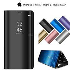 COVER per Iphone X 6 7 8 /Plus FLIP Custodia ORIGINALE MIRROR Case Clear View