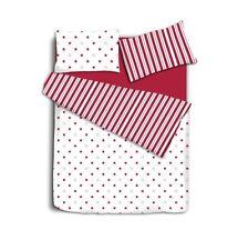 RED STARS & STRIPE DUVET COVER AND PILLOWCASE BEDDING SET, SINGLE, DOUBLE
