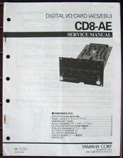Yamaha Service Manual Original Books Pick One: CD8-AE CD8-CS CD8-TD CD8-Y Cards