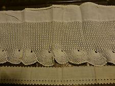 : Travail dentelle  ancien fait main  coton crochet