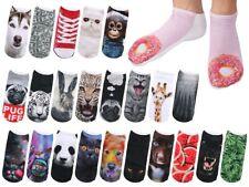 Sneakers Bunt Söckchen Damen Teenager Motiv-Socken Hipster Design Füßlinge 36-39
