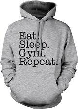Eat Sleep Gym Repeat Train Life Workout Lift Cardio Weights Go Hoodie Sweatshirt