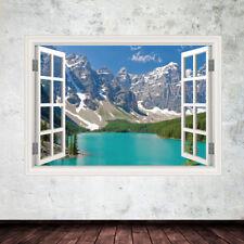 Rockies Window Frame wall art sticker decal transfer mural Graphic mural WSD425