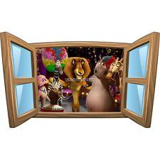 Sticker enfant fenêtre Madagascar réf 966 966