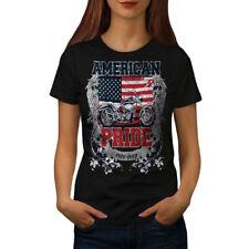 American Pride Biker Women T-shirt S-2XL NEW | Wellcoda