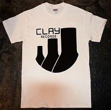 Clay Records - 'Logo' T-shirt (punk oi discharge joy discharge mob amebix kbd)