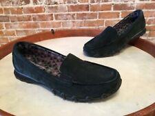 Skechers Black Leather Slip on Bikers Roamer Loafer Moccasin NEW
