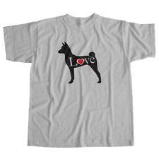 I Love Basenji African Barkless Bush Dog Pet Lover Puppy Unisex Tee T-Shirt