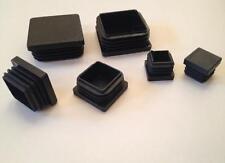 96 STÜCK Lamellenstopfen Quadrat-/Vierkantrohr schwarz 20x20, 25x25, 30x30