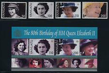 Vanuatu 880-4 MNH Queen Elizabeth 80th Birthday