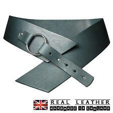"3"" Ladies Waist Belt Full Grain Hide Real Leather Hipster Belts Made In UK"