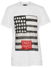 """ELEVEN PARIS Top Herren T-Shirt """"USA Flag"""" in weiß NEU+OVP!"""