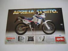 advertising Pubblicità 1987 MOTO APRILIA TUAREG 50