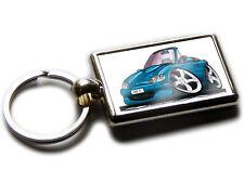 MAZDA MX5 Convertible Car Koolart Chrome Keyring Picture Both Sides