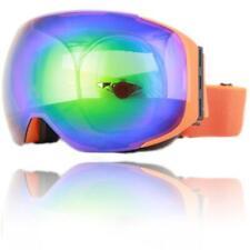 Snowboardbrille Skibrille Orange Schneebrille Goggle XXL Männer Damen Unisex Neu