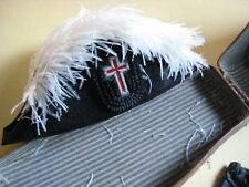 Antique Masonic Fur/Feather Hat Original Leather Box
