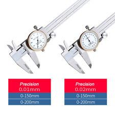 Skalenteilung 0,01mm Uhren-Messschieber DIN862 Edelstahl 0-150mm