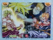 DRAGONBALL x MORINAGA Sushuu Puzzle Card BROLY vs Super Saiyan SON GOHAN 546~547