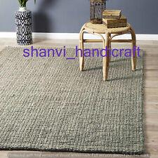 Floor Rug Rags Carpet Mat Braided Indian Rectangle Handmade Bohemian Jute Area
