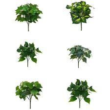 Green Foliage Artificial Leaf Plant x 7 Stem - 32cm Indoor Outdoor Bush