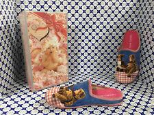 Pantofole Ciniglia Anne Geddes Donna - Bimbi Orsetti Tovaglia Rosa Azzurro 5870