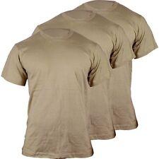 Military Army Tan Mens T-Shirt 3pk Soffe Dri Cotton 682M New Uniform OCP Code