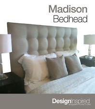 MADISON DELUXE Upholstered Bedhead for Super King Ensemble - Almond