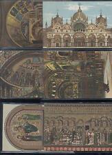 CARTES POSTALES ANCIENNES SERIE DE 6  BASILIQUE ST-MARC CHROMOLITHOGRAPHIES