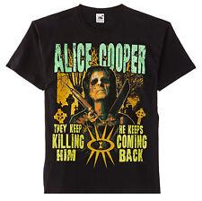 Alice Cooper Graveyard Rock Heavy Metal Official Tee T-Shirt Mens Unisex