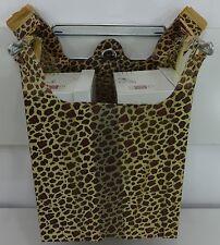"Leopard Print Design Plastic T-Shirt Shopping Bags Handles 11.5x 6x21"" Bags Only"