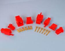 Qualité 2.8mm rouge mini connecteur kits 2 3 4 6 9 way moto moto voiture