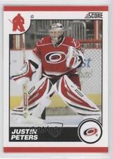 2010-11 Score Glossy #125 Justin Peters Carolina Hurricanes Hockey Card