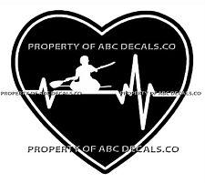 VRS Heartbeat Heart Kayak Kayaking Paddle Sea Ocean River Male CAR VINYL DECAL
