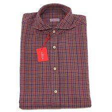 2337P camicia cotone pesante uomo quadretti bordeaux ALTEA camicie  shirt men