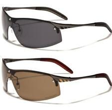 Nuevo Negro Polarizado gafas de sol para hombre señoras diseñador Deportes me Wrap Sin Montura Grandes