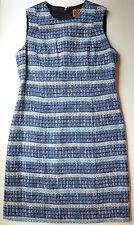 NWT $495 Tory Burch Cotton Blend Tweed Sheath Dress Size 4 & 12