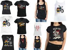 Biker Motiv T-Shirt Biker Damenshirt Bikershirt Mädchen Baby Biker Trägershirt