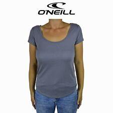 Womens O'Neill Electrify Grey Beach Summer Basic Short Sleeve Shirt Tee O2.1