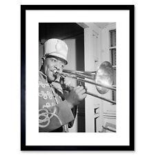 Music Photo Portrait Jazz Trombone Legend Sandy Williams Framed Print 12x16 Inch