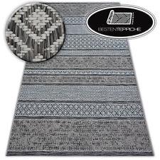 """Modern Teppich """"LOFT"""" elfenbein grau Flachflor Dicht Gewebtem beste Qualität"""