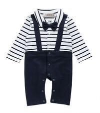 StylesILove Baby Boy Tuxedo Faux Suspender Romper and Bib Vest 2-Piece
